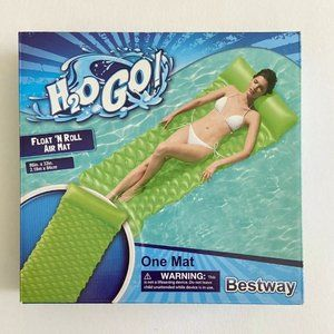 H2o Go Float N Roll Air Mat 86in X 3in Green NEW